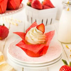 These Strawberry Shortcake Cupcakes are so fun and easy with a cookie bottom and a strawberry baked right in the middle. They are topped with a rich buttercream frosting and a fresh strawberry to complete the twist on this delicious summertime treat. These special cupcakes are perfect for a birthday or any celebration. In Canada, think of Canada Day and our festivities. Perfect red and white delicious treats are the best! Standard ingredients, although there seem to be quite a few of them…