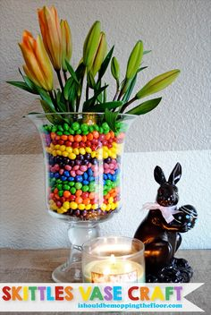 Skittles Vase Craft tutorial #VIPFruitFlavors #CollectiveBias #shop