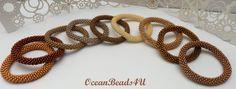 Golden/Yellow/Orange Roll on Beaded Bracelets, Beaded Crochet Rope, Nepal Bracelet,Bangle, Golden Bangle, Armband by OceanBeads4U on Etsy