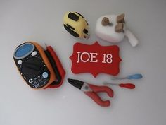 EDIBLE ELECTRICIANS TOOLS -SUGAR PASTE CAKE TOPPER-DECORATION,BIRTHDAY,MAN
