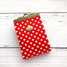 Polka dot Credit Card Holder Credit Card by BlueRabbitHandmade
