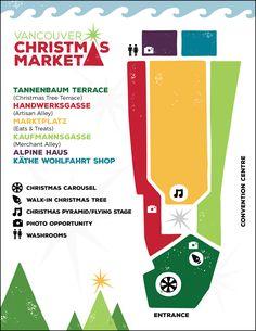 Christmas market near Vancouver Convention Centre