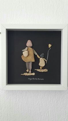 mother and child daughter framed art No: 57 Anneler Gününde by Nebiye Karataş Marmara.Yese y sahidyThere are Beautiful Pebble Art Ideas.Pebble Art Crafts – The Do It Yourself Pebble art is a massive topic as well as volumes could be created on Stone Crafts, Rock Crafts, Arts And Crafts, Art Crafts, Pebble Pictures, Stone Pictures, Nature Pictures, Art Rupestre, Creation Art