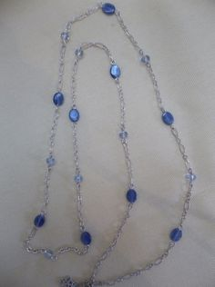 Energizing Blue Kyanite and silver chain by GailardiaDesigns, $24.00