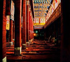 Drepung Monastery, Tibet. Monks sleeping quarters.