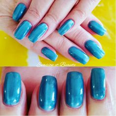 """❤ Remplissage gel + pose à l'italienne gelcolor by O.P.I effet """"cat eyes""""❤ #opi #gelcolor #bluelagoon #cateyes"""