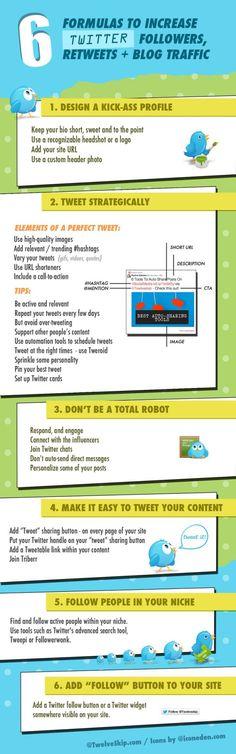 Fórmulas para mejorar tu #Twitter #infografia #infographic