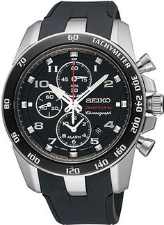 Seiko Sportura FC Barcelona Chronograph Black Dial Mens Watch - The House Of The Good Old Classic Watches Plus Sport Watches, Cool Watches, Watches For Men, Citizen Watches, Fc Barcelona, Barcelona Players, Barcelona Football, Stainless Steel Watch, Stainless Steel Bracelet