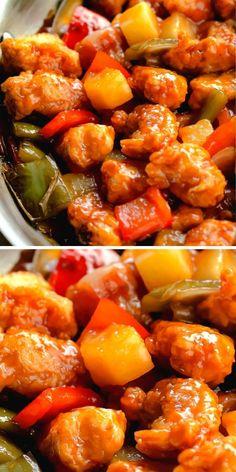 Pork Recipes, Asian Recipes, Crockpot Recipes, Chinese Recipes, Copycat Recipes, Chinese Food, Sweet And Sour Pork Recipe Easy, Pork Dishes, Recipes