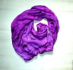 Купить большой шелковый шарф лесная ягода натуральный шелк эксельсиор - батик шарф, шелк