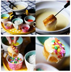 Cupcake fondue  sweet dreams are made of these!