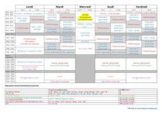 Emploi du temps Cm1-Cm2 / 2014-2015 - Maikresse 72 - mes petites idées pour la classe.. Homeschool, Bullet Journal, Cycle 3, Street, Classroom Management, Elementary Schools, Program Management, Jobs In, Roads