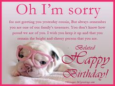 Belated Birthday Wishes Greetings And Belated Birthday Messages - Messages, Wordings and Gift Ideas
