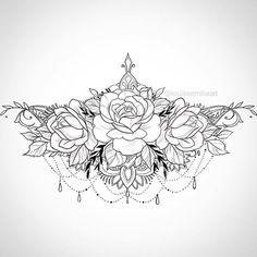 Underboob/Solar Plexus tattoo design 🍃🌹 - Tattoo For Women Stomach Tattoos Women, Belly Tattoos, Body Art Tattoos, Sleeve Tattoos, Hot Tattoos, Lower Back Tattoo Designs, Lower Back Tattoos, Back Tattoo Women Upper, Cover Up Tattoos For Women