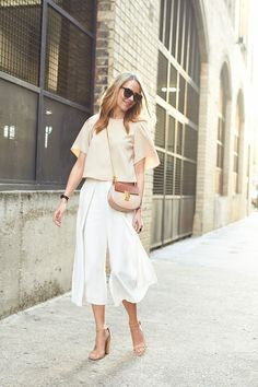 fashion-jackson-beige-blouse-white-culottes-chloe-drew-handbag-tan-sandals