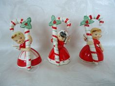 Napco angel candy cane bells