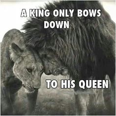 A King Only Bows down to his Queen !