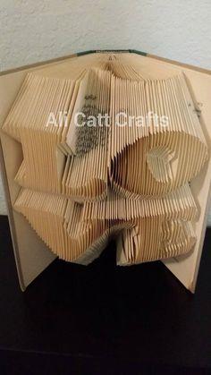 LOVE book folding pattern by alicattcrafts on Etsy