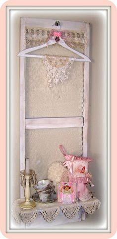 Olivia's Romantic Home DIY: Super Easy Shabby Chic Shutter Shelf