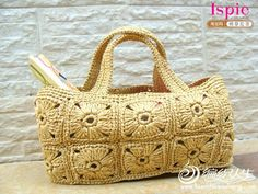 [Rafael] Summer crochet cotton grass bags of 40 summary papers bags attached part instructional video - xrzs000 - Xinruzhishui