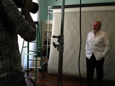 Behind the scenes at the photoshoot for Don't Go Gentle with Michael Cristofer and photographer Thom Kaine!