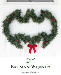 Batman Christmas Wreath. Check out my FAN JUNK store for cool fan gear: http://astore.amazon.com/cosplay_diary-20 Curated by NYC Metro Fandom. NYC Tri-State Fan Events: http://yonkersfun.com/category/fandom/