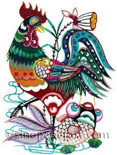 chinese paper cut art at sinopaperart