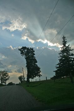 Seen at the end of the day on a country road near Orono.