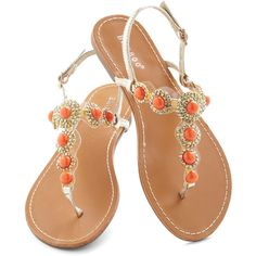 Coral That Jazz Sandal ($16) ❤ liked on Polyvore featuring shoes, sandals, zapatos, coral flat shoes, ankle wrap flats, flats sandals, ankle wrap shoes and coral flats