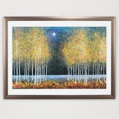 One of my favorite discoveries at WorldMarket.com: Blue Moon.  I like the print but would change the frame.