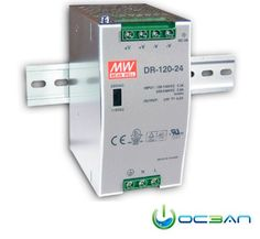 MEAN WELL DR-120-24 - Pwr sup.unit: pulse; 120W; 5A; Uout:24VDC; 88÷132/176÷264VAC; 790g