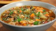 Vegie Minestrone with Mixed grains - Janella Purcell