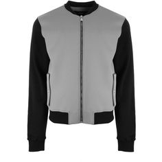 Versus Versace Lion Head Bomber ($685) ❤ liked on Polyvore featuring men's fashion, men's clothing, men's outerwear, men's jackets, mens zip up jackets and mens bomber jacket