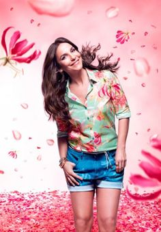 Ivete Sangalo floral com a Malwee