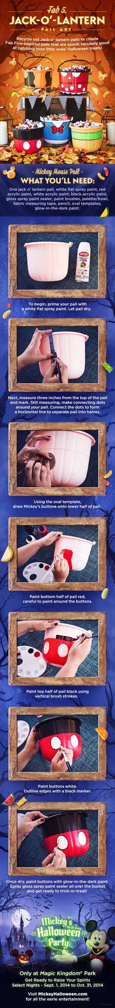 DIY Jack-o'-lantern Pail Art from Walt Disney World!