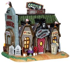 45675 - Coffin Cafe - Lemax Spooky Town Halloween Village Houses & Buildings - Lemax Village Collectibles