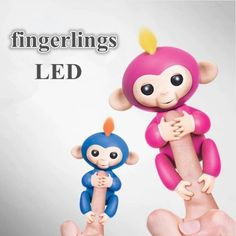 New Kids Children Cute Finger Toy Monkey Lights Electronic Intelligent Doll Gift #Unbranded