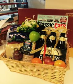 Grandfathers Birthday Basket Featuring Classic Car Magazine, Guinness & His Favourite Snacks Classic Car Magazine, Gift Baskets For Him, 90th Birthday Gifts, Birthday Gift Baskets, Gifts Delivered, Gift Hampers, Guinness, Create Your Own, Snacks