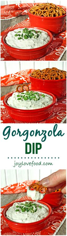 Gorgonzola Dip - a delicious, creamy and tangy dip, that is so easy to make and perfect for your next party, get together or snack anytime.