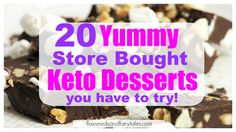 The best store bought keto desserts to satisfy your sweet tooth and help you lose weight fast! Delicious fat burning keto desserts to buy. Keto Chicken Casserole, Easy Casserole Recipes, Mousse, Breakfast On The Go, Breakfast Bars, Keto Desserts To Buy, Keto Friendly Ice Cream, Healthy Protein Bars, Muffins