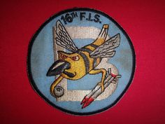 "Korea War (1950-53) US ""B"" (Bee) 16th Fighter Interceptor Squadron Patch 