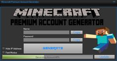 Free minecraft premium account generator