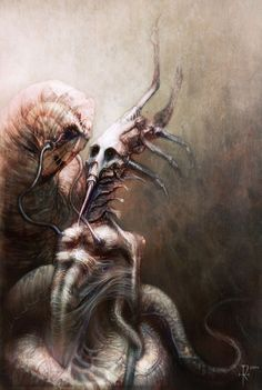 Morbid and Mystic Horror Art Pictures – Smashing Magazine Scream, Creepy Art, Creepy Paintings, Arte Horror, Love Art, Art Pictures, Fantasy Art, High Fantasy, Art Drawings