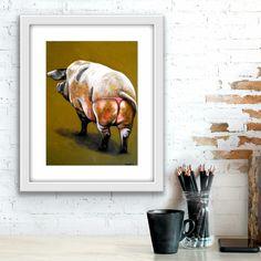 Pig in a G-String   Fine Art Print G Strings, String Art, I Fall In Love, Artworks, Fine Art Prints, Joy, Painting, Dental Floss, Art Prints