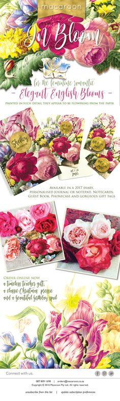 In Bloom - Elegant English Blooms - the perfect gift!