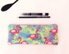 Flamingos pencil case, zipper pouch, back to school, funny