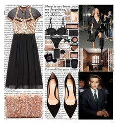"""""""I want you, I want you, I want you to be my baby Settle down, we'll settle down then give you a baby Put it down, boy, put it down and make me act all crazy I might let you change me, boy I can arrange it, yeah"""" by labelsoflove ❤ liked on Polyvore featuring LUCY IN DISGUISE, Elie Saab, Gianvito Rossi, Kenza Lee, Gucci, Shourouk, La Perla, Chanel, Dolce&Gabbana and Stila"""