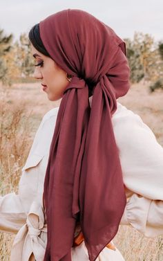 New summer hijab styles 2020 Hair Wrap Scarf, Hair Scarf Styles, Hijab Styles, Turban Tutorial, Hijab Style Tutorial, Hijab Turban Style, Hijab Outfit, Hijab Wedding Dresses, Hijab Bride