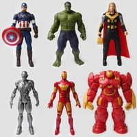 6PCS-MARVEL AVENGERS SUPER HERO Figure Giocattoli Cake Topper Hulk Batman Super Man
