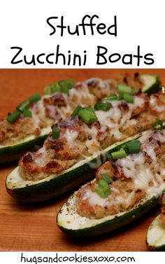 ZUCCHINI BOATS STUFFED WITH BACON, BREADCRUMBS & CHEESE!